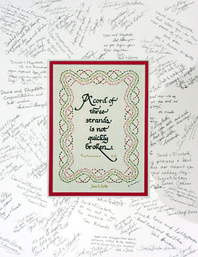 A Cord Of Three Strands Personalized Calligraphy Giftweddings