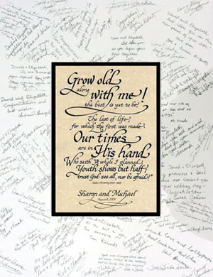 Grow Old Along With Merobert Browningpersonalized Calligraphy Gift