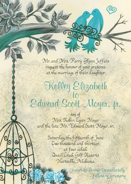 custom designed wedding invitation artwork